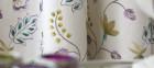 prestigious fabric, embroidery, flower pattern
