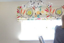 Roman Blinds, pattern fabric