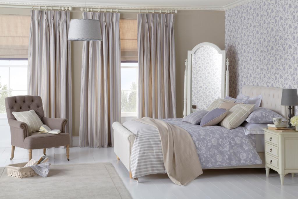 curtains, bedding, cushions